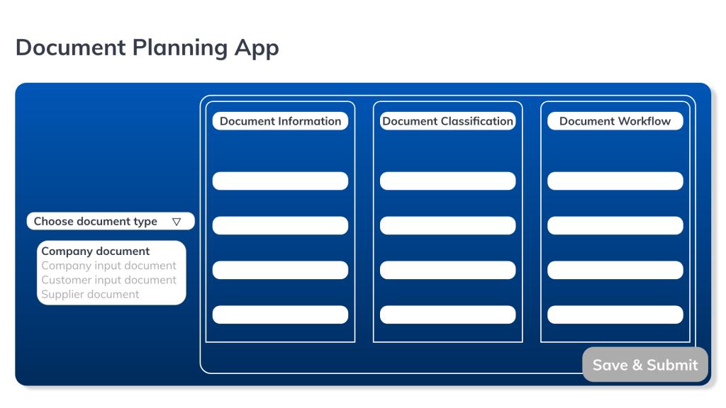 Document planning process links