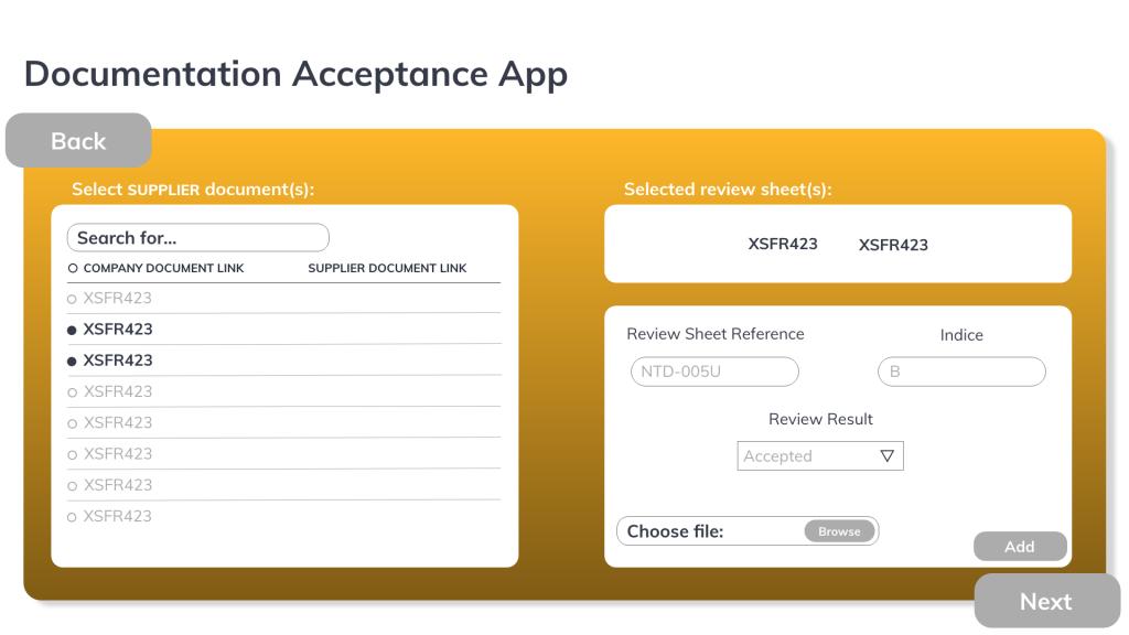 Document Acceptance